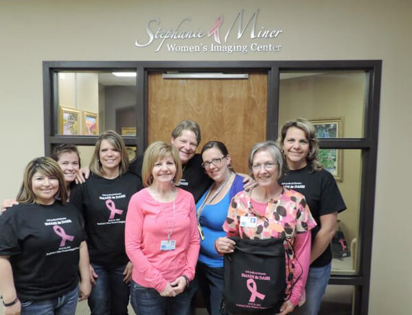Stephanie L. Miner team in front of the women's imaging center