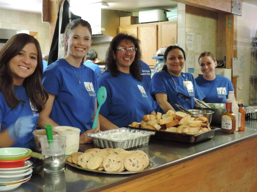 SLV Health Employees Serving Dinner at La Puente