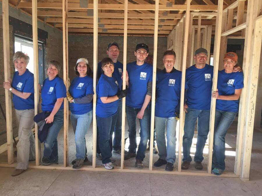 Employees Volunteering at the Habitat for Humanity