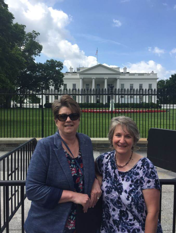 Konnie was accompanied on the trip to DC with Donna Wehe, Director of Communications at SLV Health