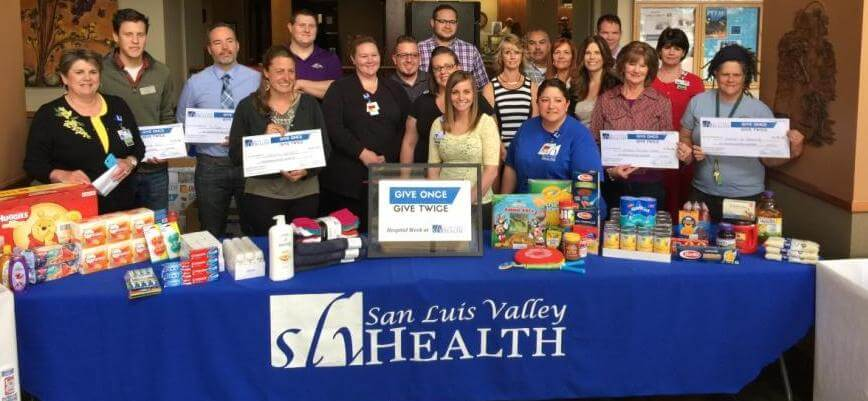 SLV Health Employees at the Donation Hand-Off