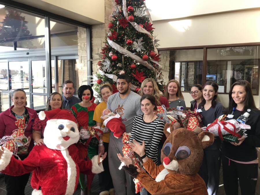Presents delivered to pediatric hospital