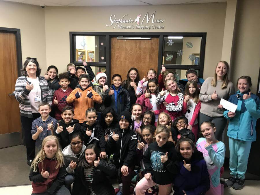 Fourth- and fifth-graders from Alamosa Elementary raise funds for Stephanie L. Miner Women's IMaging Center
