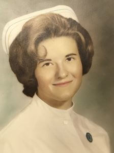 Linda Schmidt in her early years at the hospital.