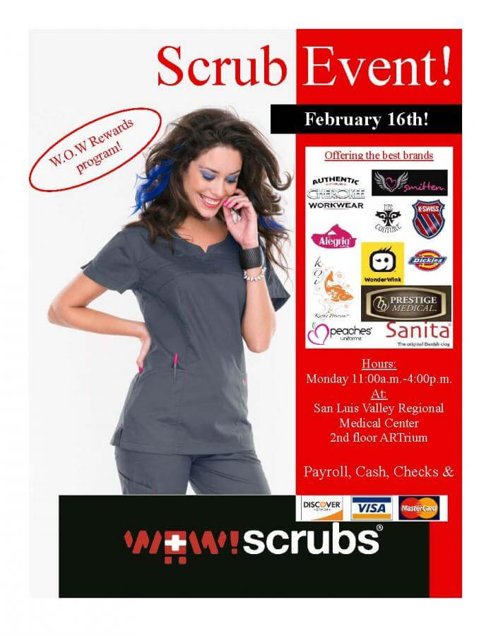 WOW Scrubs at SLV Health February 16th